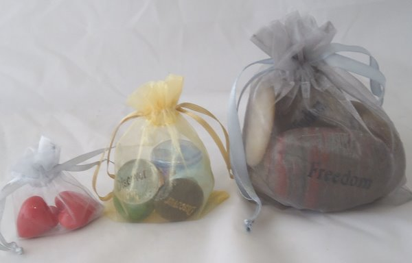 Organza Pocket Token and Word Stone Gift Bag