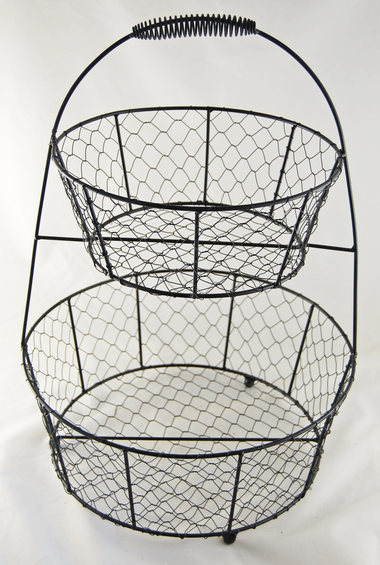 Two Tiered Wire Basket - Display Only